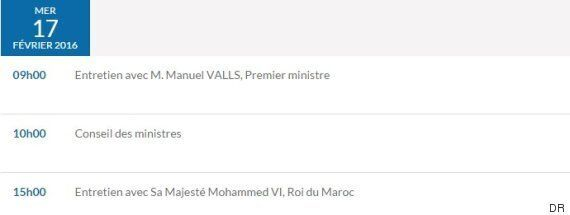 Mohammed VI reçu par François Hollande le 17