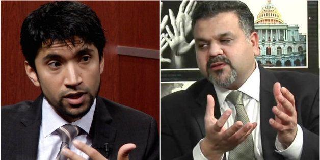 De gauche à droite, Arsalan Suleman, envoyé spécial de l'OCI et Qamar-Ul Huda conseiller au bureau des...