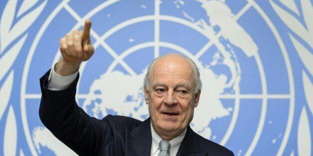 L'émissaire de l'ONU pour la Syrie, Staffan de Mistura, à Genève le 25 janvier