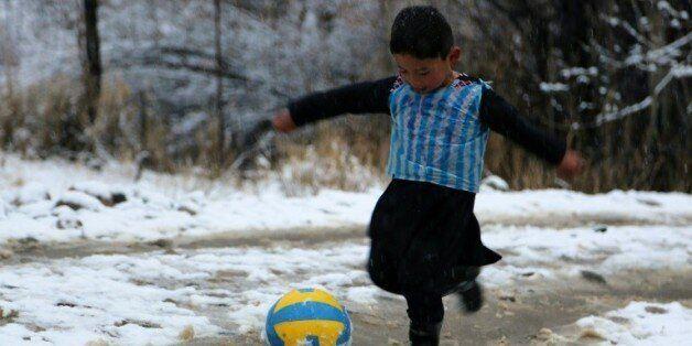 Murtaza Ahmadi, l'enfant afghan fan de Lionel Messi, le 29 janvier à
