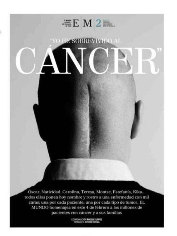 La photo d'un survivant du cancer en Une des journaux