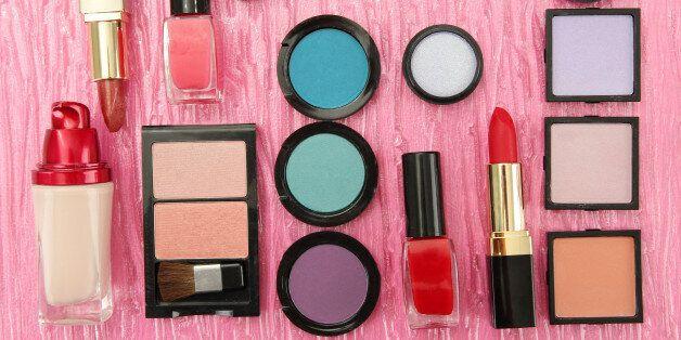 decorative cosmetics on