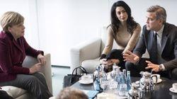Réfugiés: George Clooney reçu par Angela