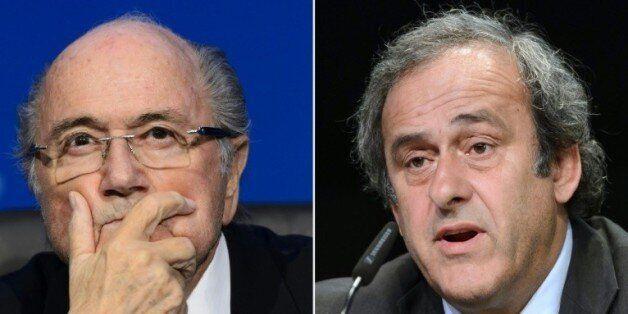 Photomontage de Joseph Blatter et Michel