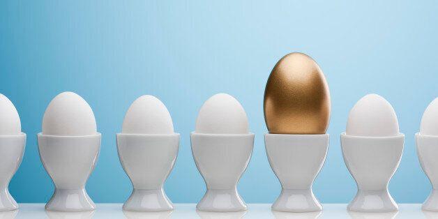 Golden egg in egg