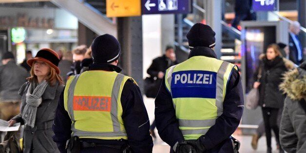 Police patrol in the main train station in Cologne, Germany, Monday, Jan. 18, 2016. Authorities in Germany...