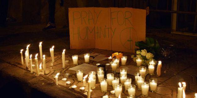 Sit-in de solidarité avec la France à Casablanca après les attentats de
