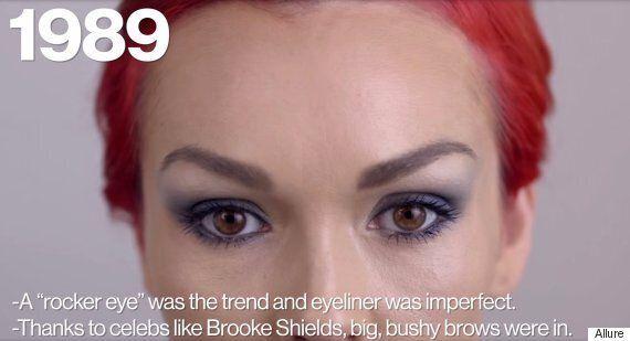 Voyez 100 ans de tendances maquillage pour les yeux
