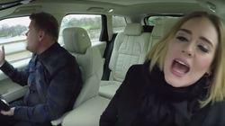 Adele au top, même lorsqu'elle chante en voiture