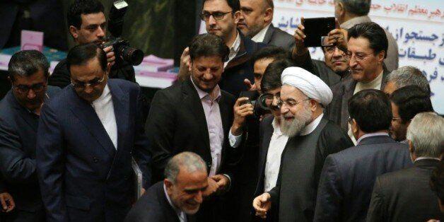 Le président iranien Hassan Rohani au Parlement à Téhéran, le 17 janvier