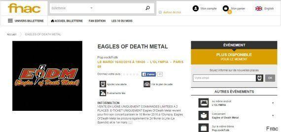 Les places pour le concert des Eagles of Death Metal à l'Olympia vendues en 30
