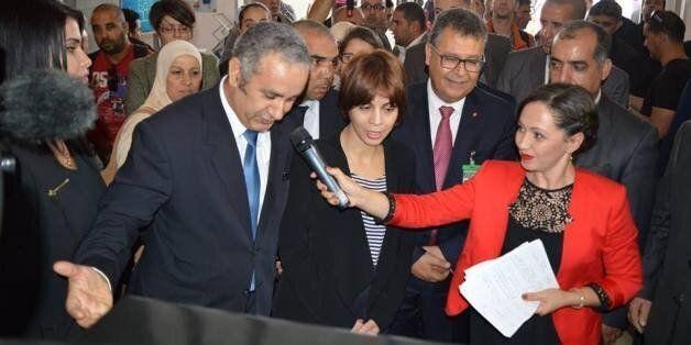 Azouaou Mehmel avec la ministre des PTIC Imane-Houda