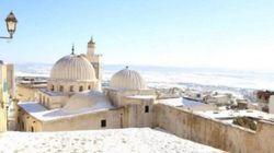 Le Kef et Ain Draham recouverts d'un voile blanc