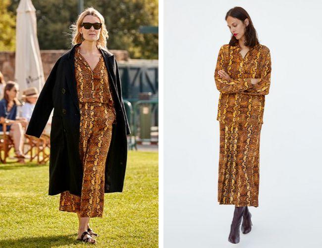 Marta Ortega en Casas Novas en julio de 2018, a la derecha, imagen de la colección de Zara.