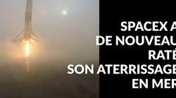 VIDÉO. SpaceX échoue à faire atterrir en mer le premier étage de sa fusée Falcon