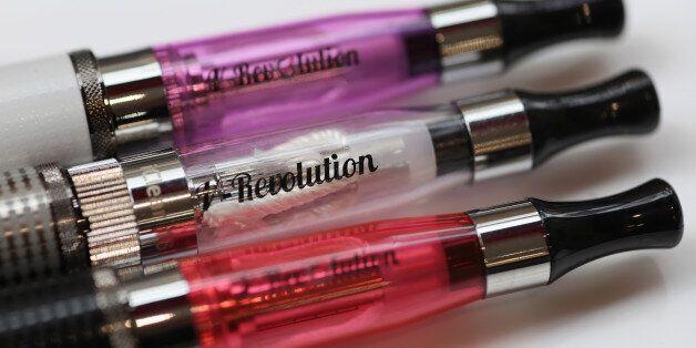 LONDON, ENGLAND - AUGUST 27: E-Cigarettes are sold at the V-Revolution E-Cigarette shop in Covent Garden...