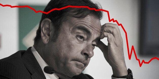 Carlos Ghosn, PDG de Renault, a vu la valeur de son groupe chuter de 20% en une demi