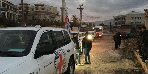 This picture provided by The International Committee of the Red Cross (ICRC), working alongside the Syrian...