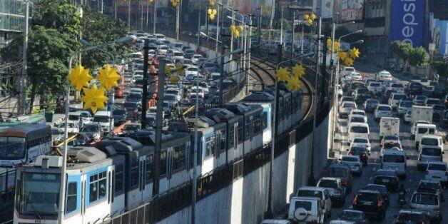 Embouteillages à Manille, le 11 janvier 2016 aux