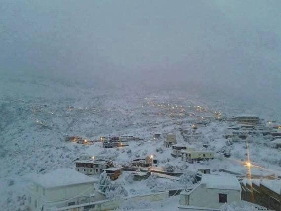 Sétif, Béjaïa et d'autres villes algériennes sous la neige