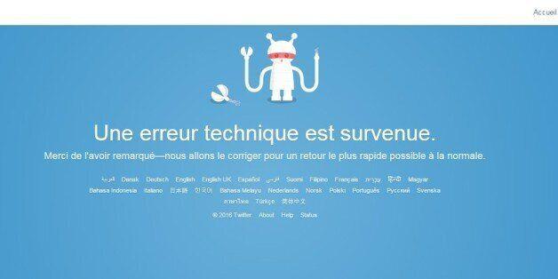 Twitter en panne pour des raisons inexpliquées dans plusieurs pays dont le
