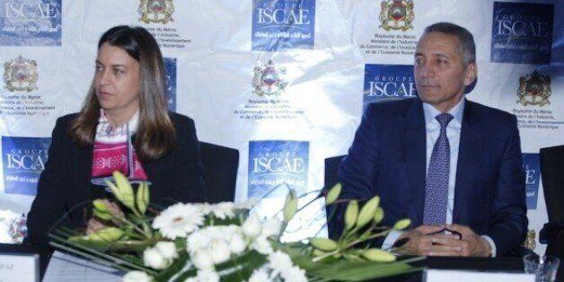 Nada Biaz, DG du groupe ISCAE, et Moulay Habid Elalamy, ministre de