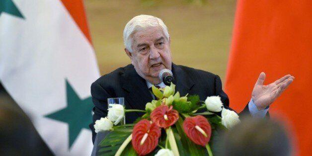 Le ministre syrien des Affaires étrangères Walid Mouallem le 24 décembre 2015 à