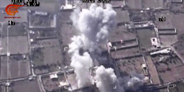 This image made from video made available on Saturday, Dec. 26, 2015, by Al-Mayadeen, government-controlled...