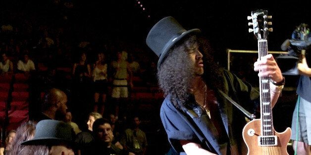 Le guitariste des Guns N' Roses, Slash, le 14 septembre 2000 à Las