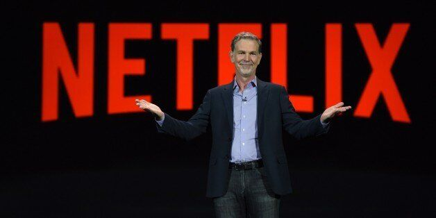 Netflix CEO Reed Hastings gives a keynote address, January 6, 2016 at the CES 2016 Consumer Electronics...