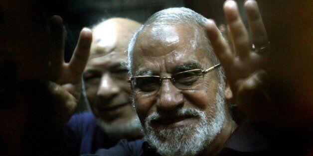 Mohamed Badie, chef des Frères musulmans, le 8 mai 2014 au