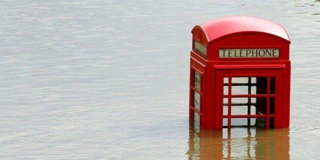 Vue d'inondations à Sheffield, au Royaume-Uni, le 26 juin