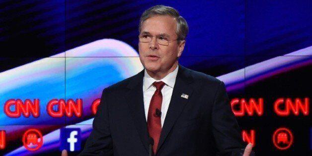 Le candidat à la primaire républicaine, Jeb Bush, à Las Vegas le 15 décembre