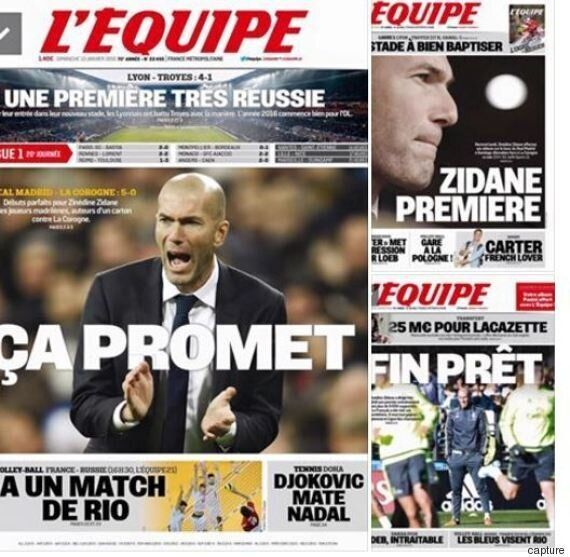 Examen d'entrée réussi pour Zidane à la tête du Real Madrid vainqueur de la Corogne