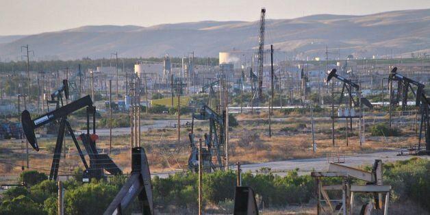 Le champ pétrolier de San Ardo dans le comté de Monterey, en Californie