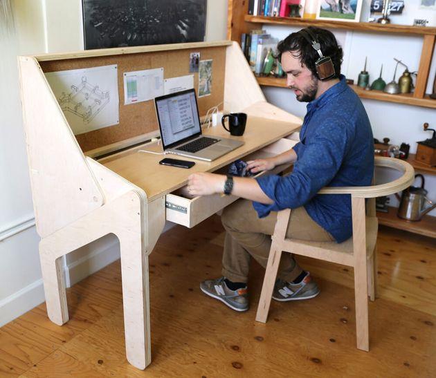 Le bureau convertible dont vous rêviez: à la fin de la journée, il se transforme en bar