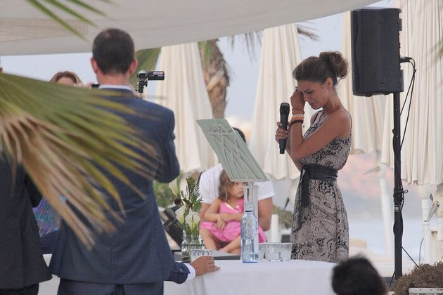 Amaia Salamanca en la boda de su