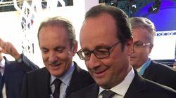 François Hollande visite le stand marocain à la
