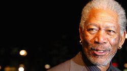 A bord de son jet privé, l'acteur Morgan Freeman s'est fait une belle