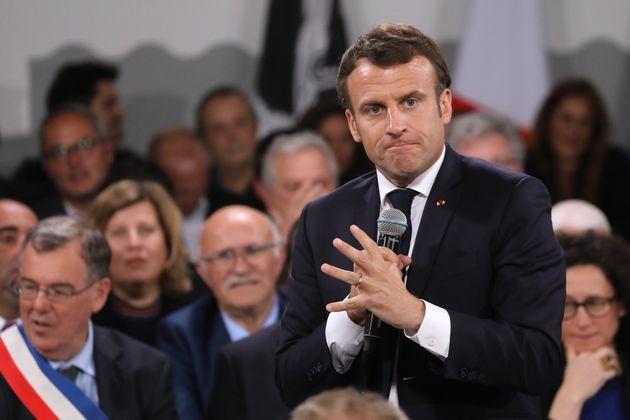 Emmanuel Macron lors du dernier
