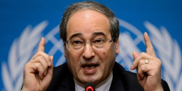 Le numéro deux de la diplomatie syrienne Fayssal Mekdad à Genève le 26 janvier