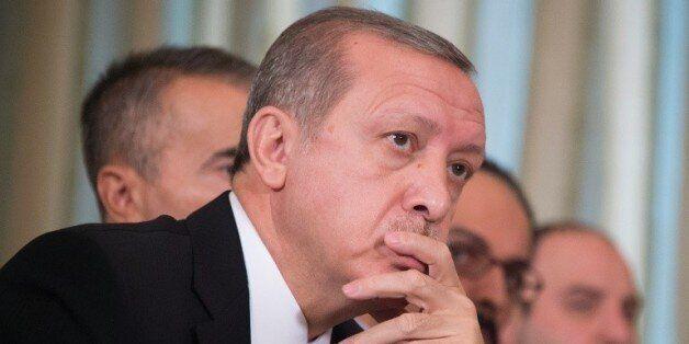 Le président turc Recep Tayyip Erdogan, lors d'une réunion à Paris, le 1er décembre