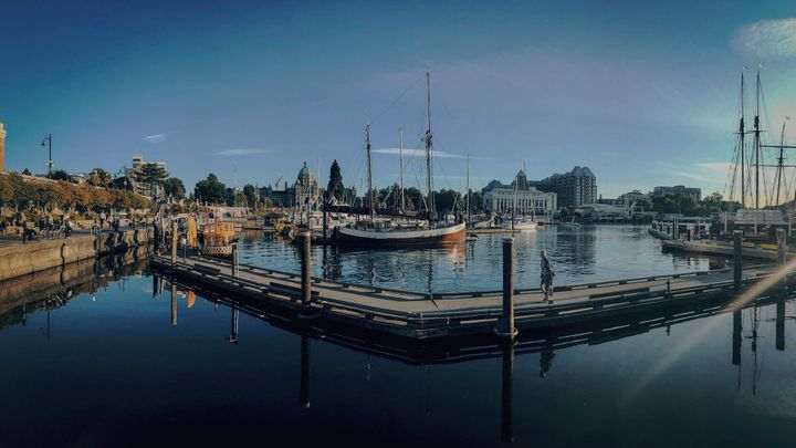 The waterfront in Victoria, B.C. is shown in July 2019.