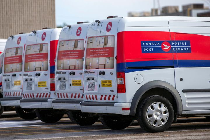Canada Post are seen here in Toronto on Nov. 21, 2018.