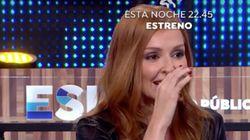 El incómodo momento de Cristina Castaño en 'Espejo Público' después de que mostraran esta foto