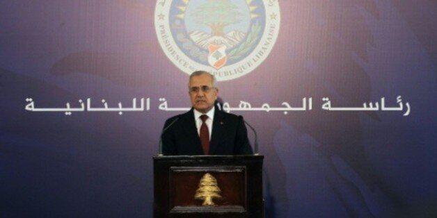 L'ancien président de la République libanais Michel Sleimane le 24 mai 2014 à