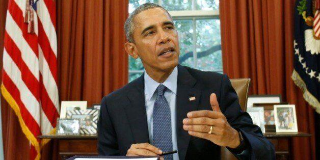 Le président américain Barack Obama dans le Bureau ovale à la Maison Blanche à Washington DC, le 2 novembre