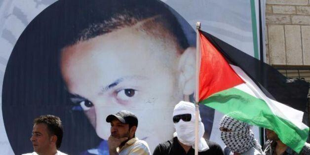 Portrait de Mohammed Abou Khdeir, lors de ses funérailles à Jérusalem-Est, le 4 juillet