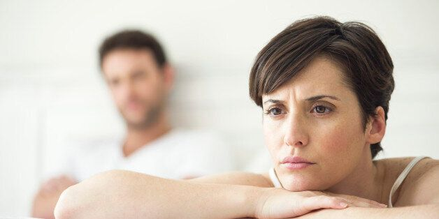 Couple not speaking after disagreement in