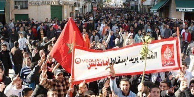A Tanger, les habitants protestent contre